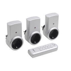 Funksteckdosen-Set 3+1, 1150 W, IP20