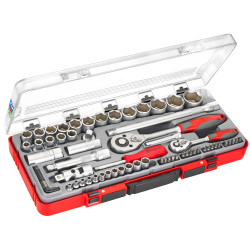 Set of socket wrenches, 67 pieces