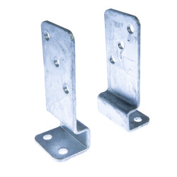 Universal pole support, 2-part