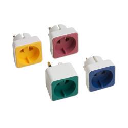 Travel adapter set for Euro/contour plugs 4-piece set